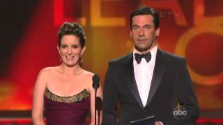 64th emmy awards   Tina Fey and Jon Hamm