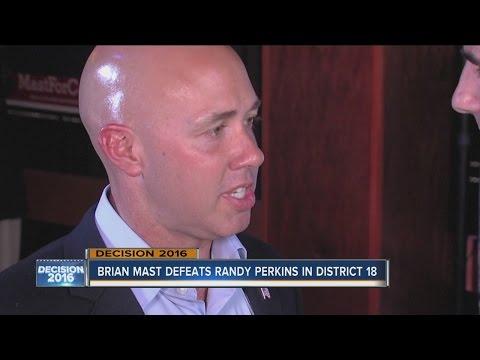 Brian Mast defeats Randy Perkins in Florida's District 18 race