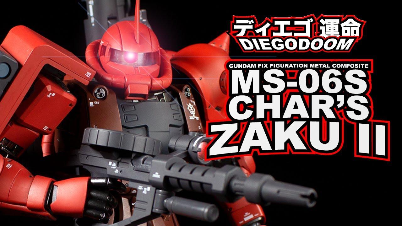 Download Gundam Fix Figuration Metal Composite MS-06S Char's  Zaku II Review