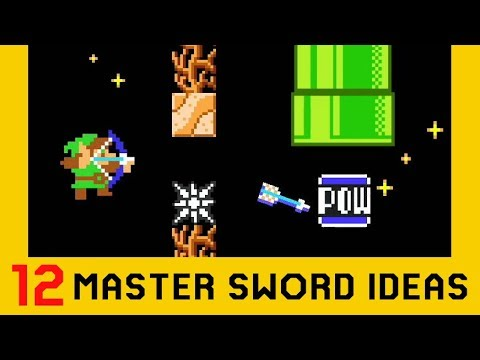 12 Ideas With The Master Sword - Super Mario Maker 2