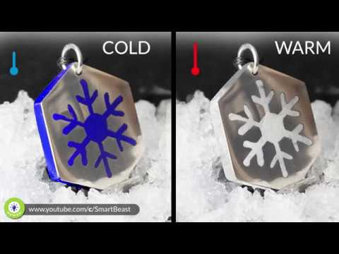 How to make MAGIC - changing color - Resin SNOWFLAKE pendant ❄️❄️❄️❄️🌬🔥
