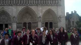 Video 349-Jumping in front of Notre Dame.