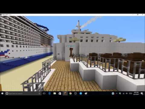 Minecraft Terminal One Sever Ship Showcase- 1960's Cruise Ship