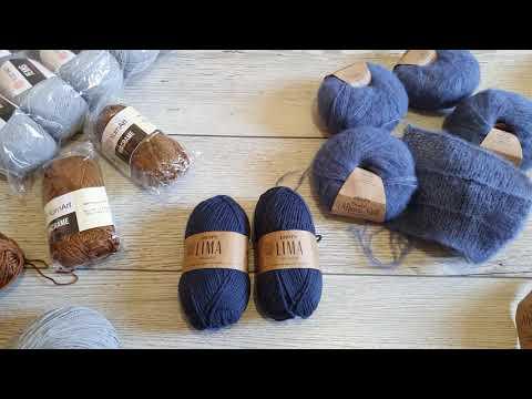 Посылка с пряжей, планы, что будем вязать осенью. #обзорпряжи #вязаниеспицами #пряжа #knitting