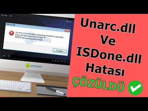 ISDone.dll (Unarc.dll) Hatası Nasıl Çözülür ( ÇÖZÜLDÜ ✓ )
