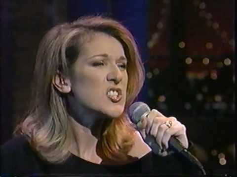 Celine Dion - Natural Woman on Letterman