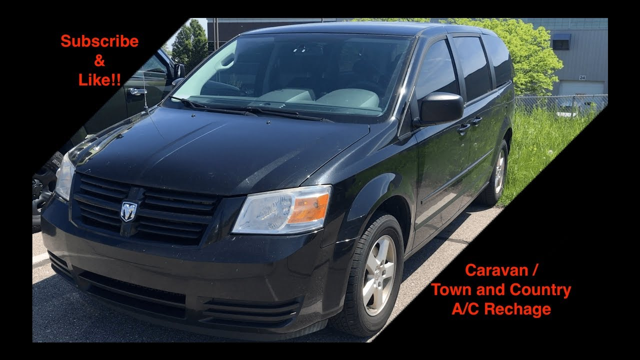 Dodge Caravan Chrysler Town And Country A C Recharge How To