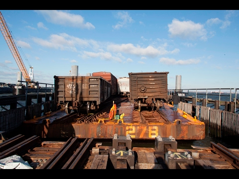 The New York Jersey Rail Car Float Operation from NYC to New