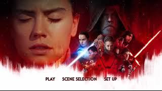 Star Wars The Last Jedi DVD Menu