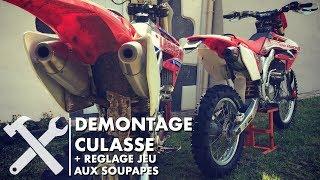 DEMONTAGE HM 250 CRF #2 CULASSE, RÉGLAGE JEU DE SOUPAPE
