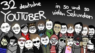Repeat youtube video 32 deutsche Youtuber 328 Sekunden (Animation)