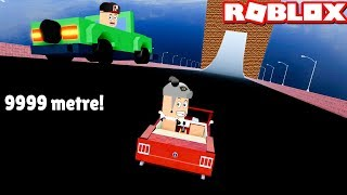 Whose Car Is Flying Better? Fly Towards the Giant Wall - Roblox Car Crash Simulator with Panda