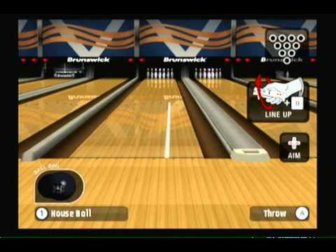 how to get a strike in wii bowling