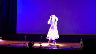 Nathalie Masson Kathak at Satyajit Ray Auditorium (Vilambit & Drut Teental - 16 beats rhythm cycle)