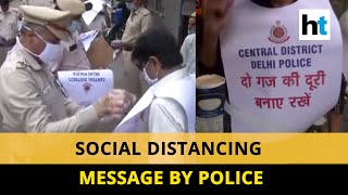 Watch: Delhi police's awareness drive for social distancing at Jama Masjid