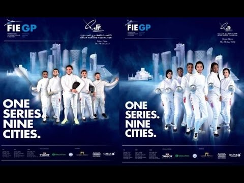 Fencing Grand Prix Doha Men Epee Preliminary - Piste Blue & Main Feed