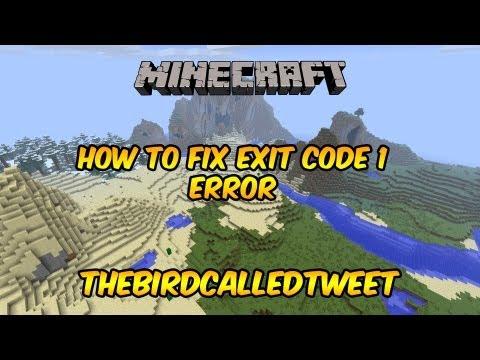 Minecraft: How to Fix Exit Code 1 Error