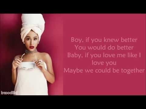 Ariana Grande ~ Knew Better / Forever Boy ~ Lyrics (+Audio)