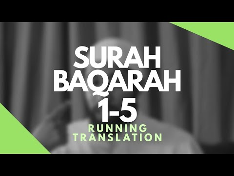 Surah Baqarah Verses 1-5 Running Translation | Journey Through the Quran with Wisam Sharieff