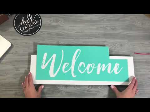 Easy DIY Wooden Welcome Farmhouse Sign