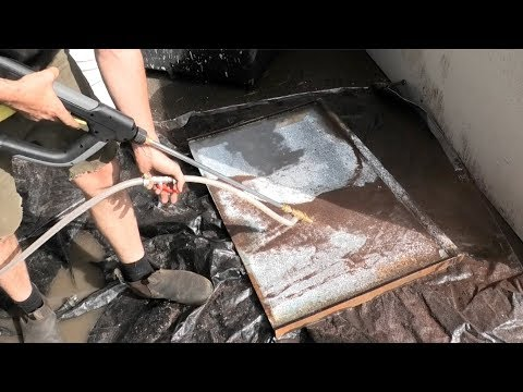 DIY wet blasting steel