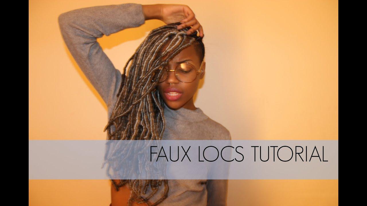 Faux Locs Tutorial on Short Natural Hair