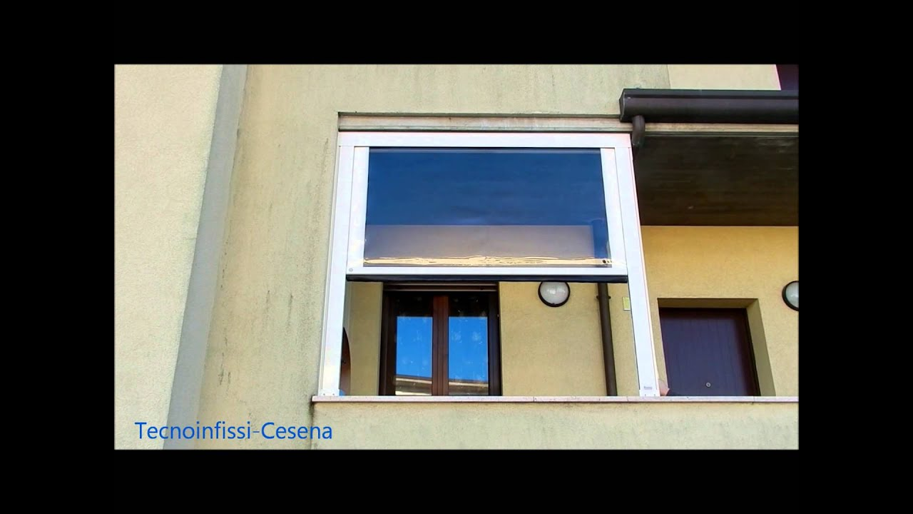 Tenda veranda con Cristal trasparente - YouTube