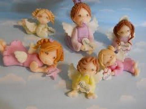Como hacer angelitos en porcelana fria youtube - Angelitos de yeso ...