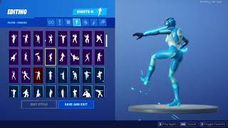 LEAKED ASTRO ASSASSIN WITH EVERY FORTNITE EMOTES (except for poplock, breakdance, make it plantain)