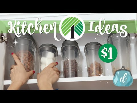 💚 DOLLAR TREE Kitchen Cabinet Makeover! 💚