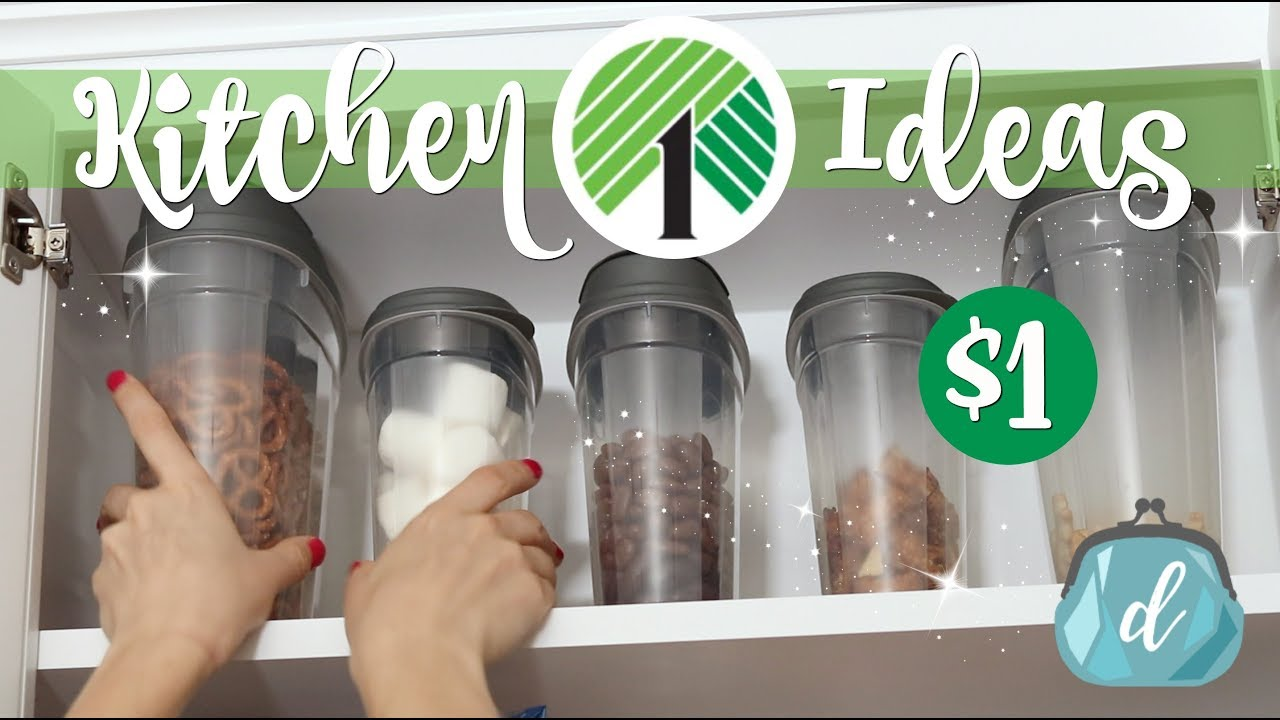 Watch This How To Make Over Your Pantry With Dollar Store Items