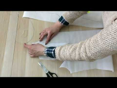 Как перевести нагрудную вытачку в рельефный шов