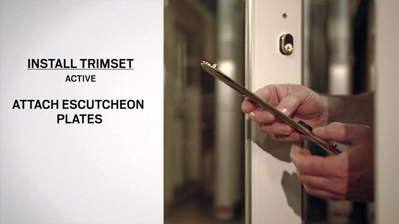 Exterior Keyed Lock Installation On Andersen® Frenchwood Hinged Inswing Patio  Doors   YouTube