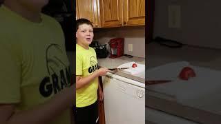 Copper kitchen knife vs tomato part 5
