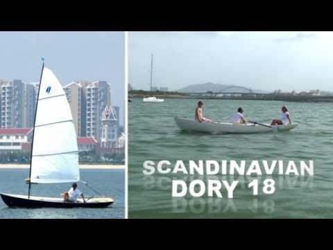 Scandinavian Dory 18 - classic clinker/lapstrake high performance sailing  and rowing boat