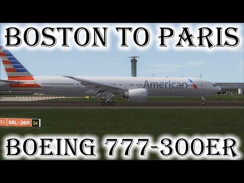 FSX   Boston (KBOS) to Paris (LFPG)   777-300ER