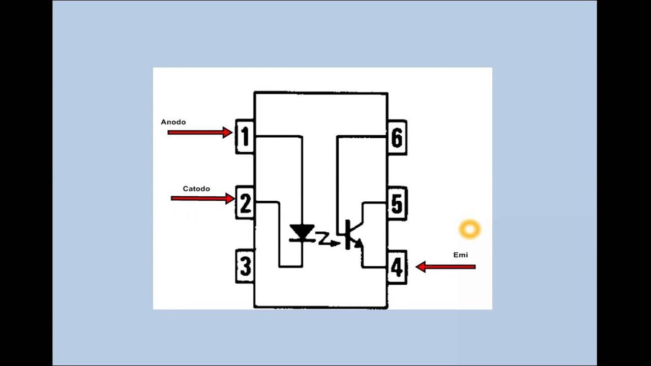 Circuito Optoacoplador : Optoacoplador configuración interna 4n35 youtube