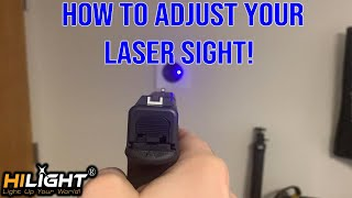 How To Properly Zero Our Laser Sight   (Watch This)