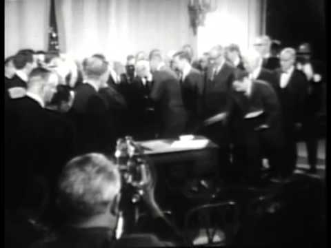 Signing of the Civil Rights Bill, 4/11/68. MP603.
