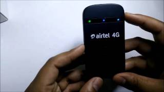Airtel 4G HOTSPOT WIFI Router Unboxing ( Black )