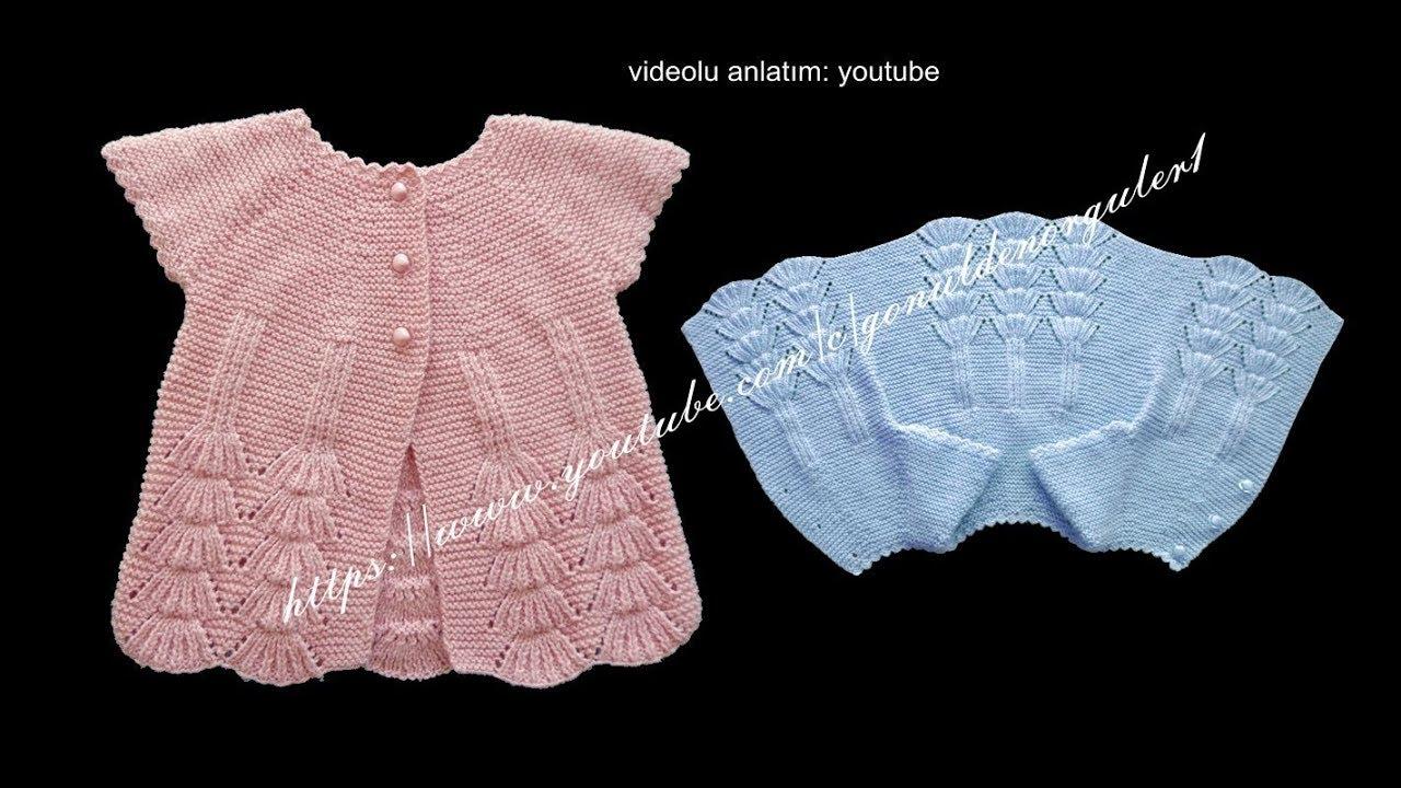 Yakadan Başlamalı Tek Parça Bebek Yeleği Yapımı Videolu Anlatımlı