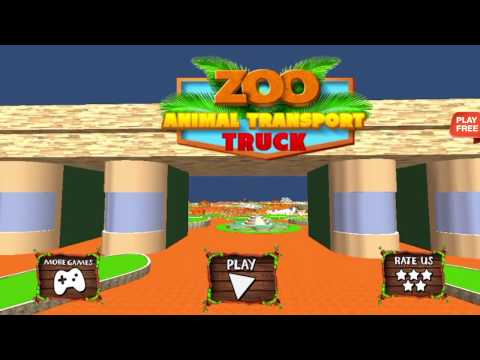 Zoo Animal Transport Truck 3D