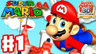Super Mario 64 - Gameplay Walkthrough Part 1 - Bob-omb Battlefield 100% (Super Mario 3D All Stars)