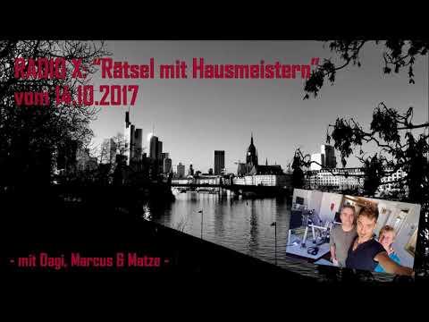 """Radio X: """"Rätsel mit Hausmeistern"""" - Folge vom 14.10.2017 (mit Gast-Moderator Matze)"""