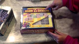 Puremco Double 15 Professional Bright Dominoes With Bright Domino Set | Mexican Train Fun