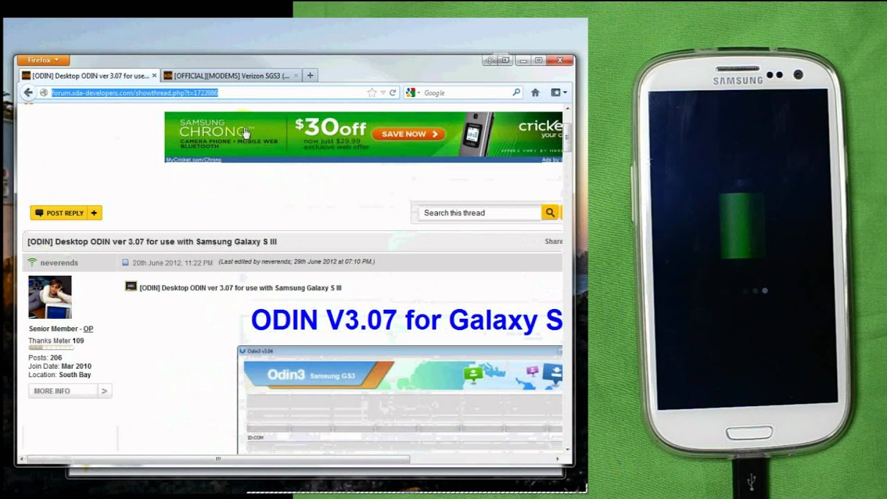 Verizon Samsung Galaxy S3 LG1 Modem/Baseband Update (I535VRLG1) - Video  Tutorial