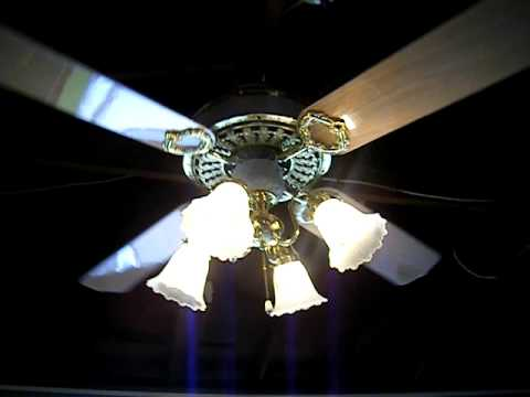 Hampton Bay St Claire Ceiling Fan 4 Blades Youtube