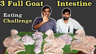 3 FULL GOAT INTESTINE Eating Challenge | ஆட்டு குடல் (Boti) | Bitter Gourd Eating Punishment |