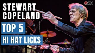 Top 5 HiHat Licks to Drum Like Stewart Copeland | Stephen Taylor Drum Lesson
