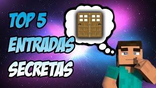 Top 5 Las Mejores Entradas Secretas Faciles | Truco Minecraft | Tutoriales